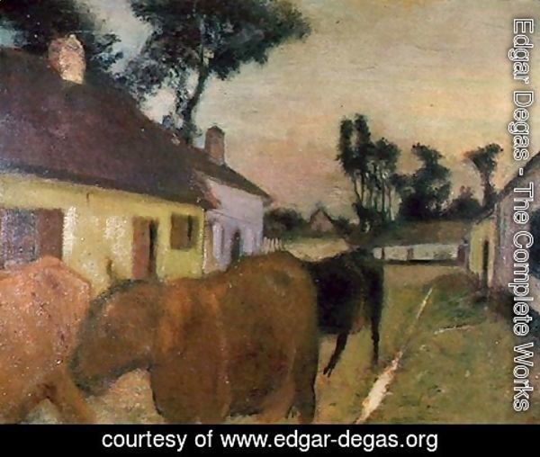 Edgar Degas - Return of the Herd