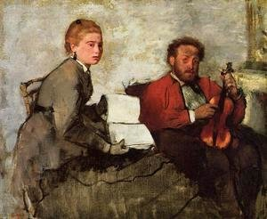 Violinist and Young Woman, c.1871