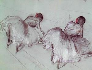 Two Ballet Dancers Resting
