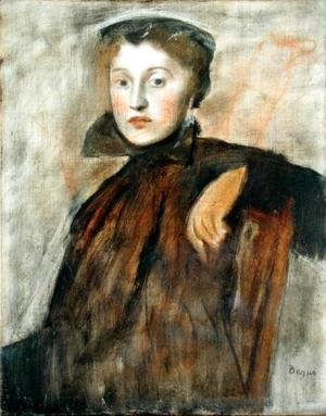 Edgar Degas - Portrait of a Lady (study) 1867