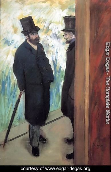 Edgar Degas - Friends at the Theatre, Ludovic Halevy (1834-1908) and Albert Cave (1832-1910) 1878-79