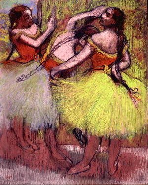 Edgar Degas - Dancers with Hair in Braids