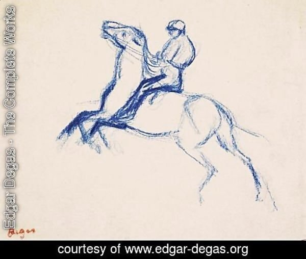 Edgar Degas - Jockey on Horseback