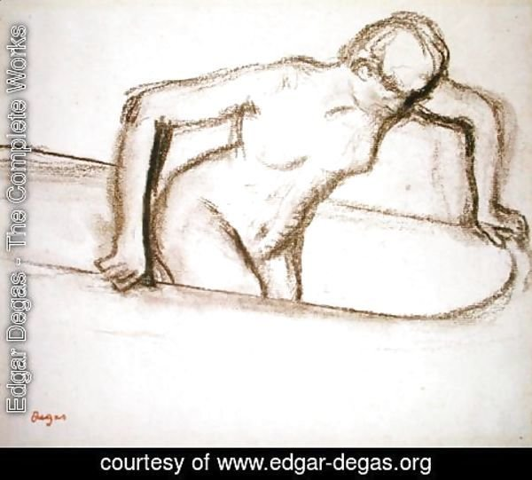 Edgar Degas - Woman in Tub