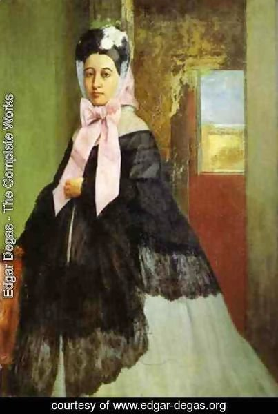 Edgar Degas - Therese de Gas (1842-95), sister of the artist, later Madame Edmond Morbilli, c.1863