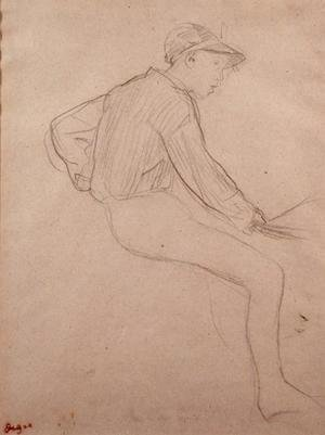 Edgar Degas - Study of a Jockey