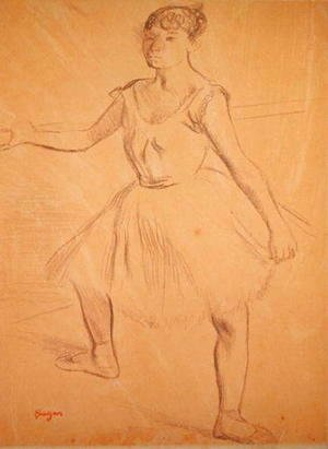 Edgar Degas - Ballerina Standing at a Bar