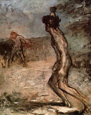 Edgar Degas - David and Goliath, c.1857