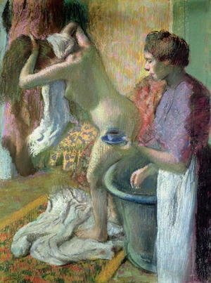 Edgar Degas - Breakfast after a bath, 1883