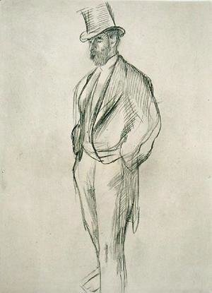 Edgar Degas - Portrait of Ludovic Halevy (1834-1908), from 'La Famille Cardinal' by Ludovic Halevy, c.1880s, published 1938