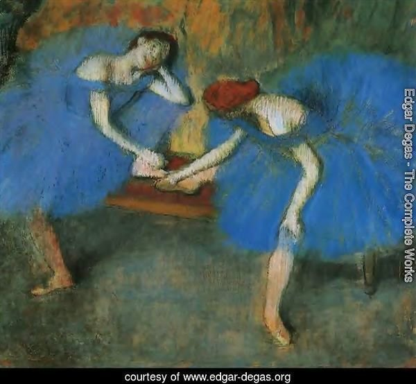 Two Dancers at Rest or, Dancers in Blue, c.1898