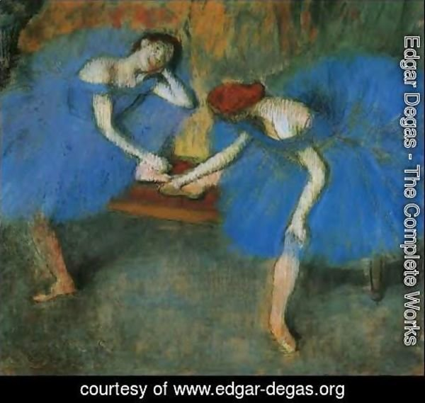 Edgar Degas - Two Dancers at Rest or, Dancers in Blue, c.1898