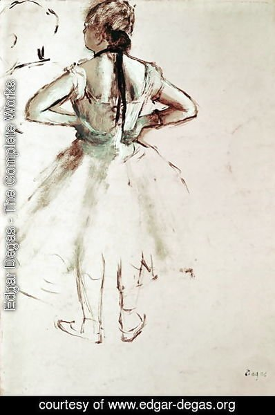 Edgar Degas - Dancer viewed from the back