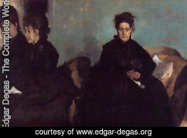 Edgar Degas - The Duchess de Montejasi and her daughters Elena and Camilla, 1876
