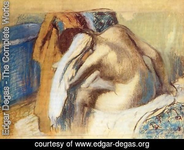 Edgar Degas - Woman Drying her Hair after the Bath