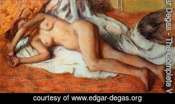 Edgar Degas - After the Bath or, Reclining Nude, c.1885
