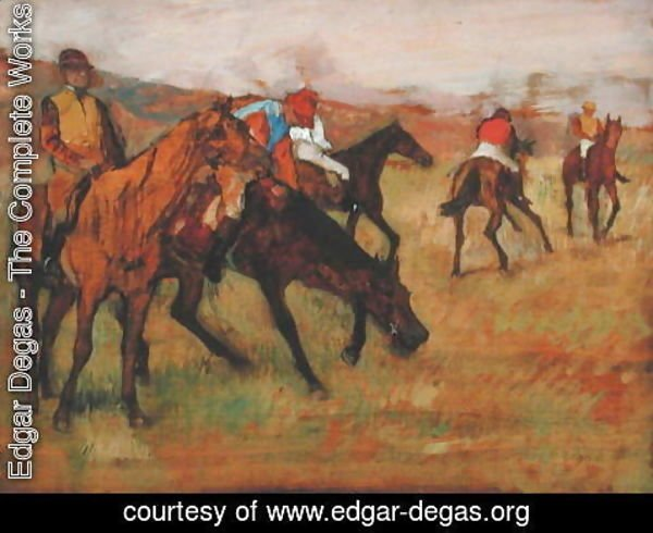 Edgar Degas - Before the Races, c.1882