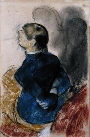 Edgar Degas - Young Woman in Blue, c.1884