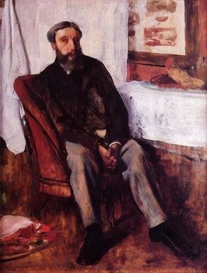 Edgar Degas - Portrait of a Man, c.1866