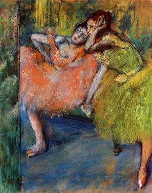 Edgar Degas - Two Dancers in the Foyer, c.1901