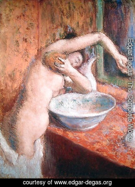 Edgar Degas - Woman washing herself