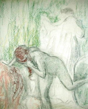 Edgar Degas - Nude getting out of the Bath