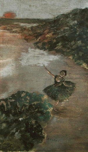 Edgar Degas - Dancer on a Stage, c.1879