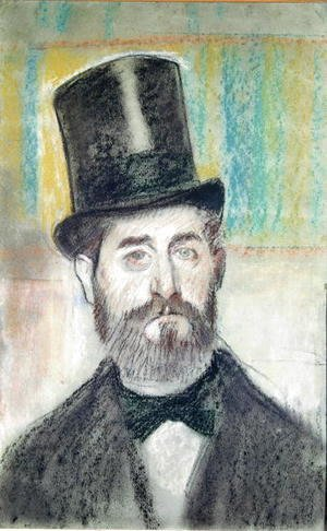 Edgar Degas - Man in an Opera Hat