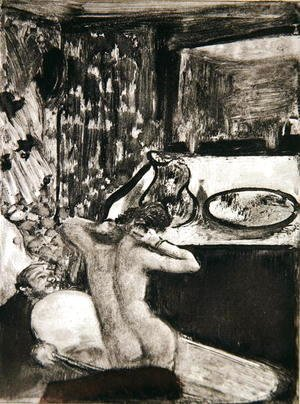 Edgar Degas - Illustration from 'La Maison Tellier' by Guy de Maupassant (1850-93), 1933