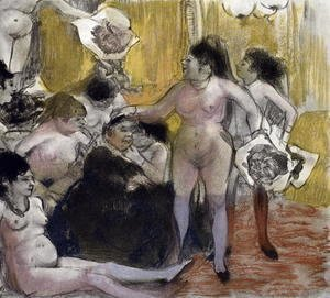 Edgar Degas - llustration from 'La Maison Tellier' 1933