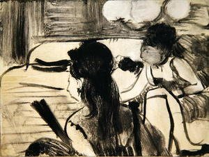 Edgar Degas - Illustration from 'La Maison Tellier', 1033