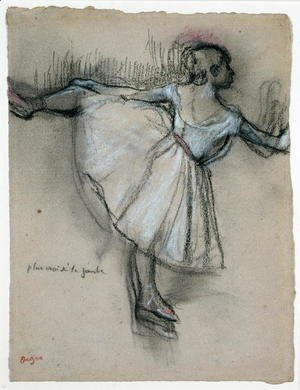 Edgar Degas - Dancer at the Bar, c.1885