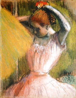 Edgar Degas - Dancer arranging her hair, c.1900-12