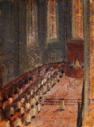 Edgar Degas - Ceremony of Ordination at Lyon Cathedral