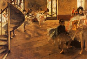 Edgar Degas - The Rehearsal, c.1877
