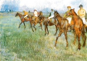 Jockeys in the Rain, c.1886