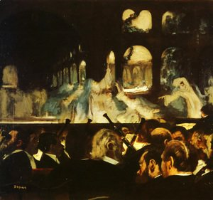 Edgar Degas - The ballet scene from Meyerbeer's opera 'Robert le Diable', 1876