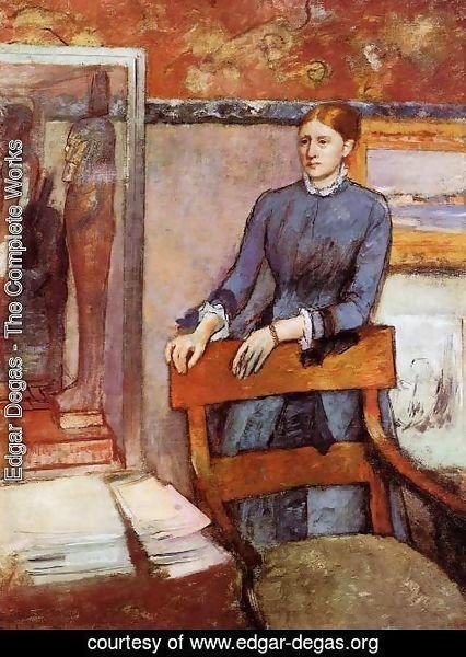 Edgar Degas - Helene Rouart in her Father's Study, c.1886