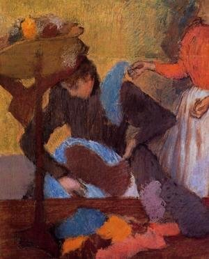 Edgar Degas - At the Milliner's, c.1898