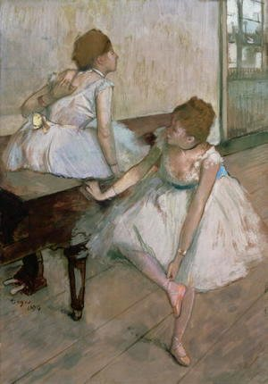 Edgar Degas - Two dancers resting, 1874