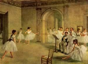 Edgar Degas - The Dance Foyer at the Opera on the rue Le Peletier, 1872