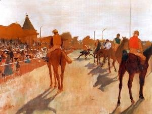 The Parade, or Race Horses in front of the Stands, c.1866-68