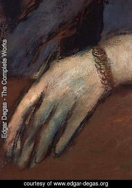 Edgar Degas - Portrait of Helene Rouart (detail)