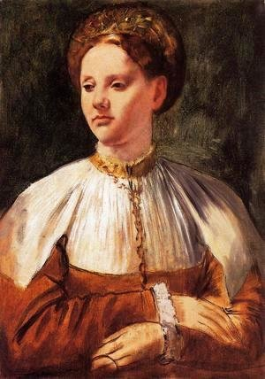 Edgar Degas - Portrait of a Young Woman (after Bacchiacca)