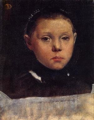 Edgar Degas - Portrait of Giulia Bellelli