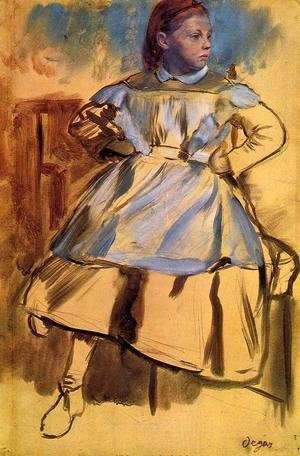 Edgar Degas - Portrait of Giulia Bellelli (sketch)