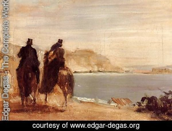 Edgar Degas - Promenade by the Sea