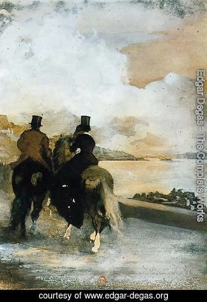 Edgar Degas - Two Riders by a Lake