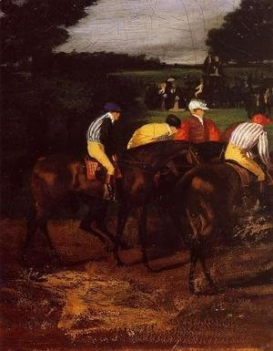Edgar Degas - Jockeys at Epsom