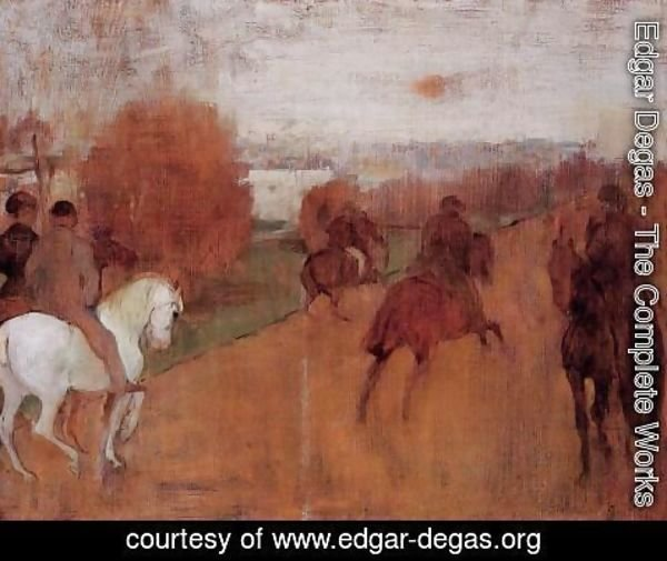 Edgar Degas - Riders on a Road